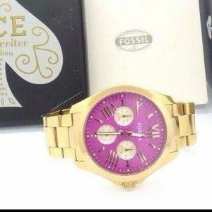 Fossil Women's Cecile Gold Stainless-Steel Analog